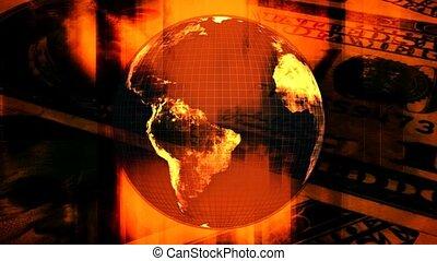 aller, argent, marques, boucle, mondiale