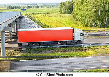aller, camion, autoroute