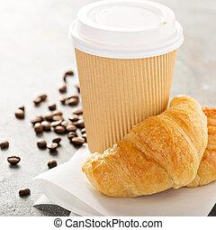 aller, croissants, café