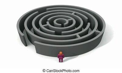 aller, personne, labyrinthe