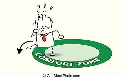 aller, sien, confort, zone, dehors