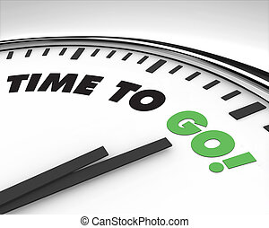 aller, temps, -, horloge