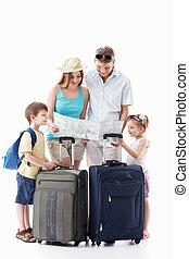 aller, vacances, famille