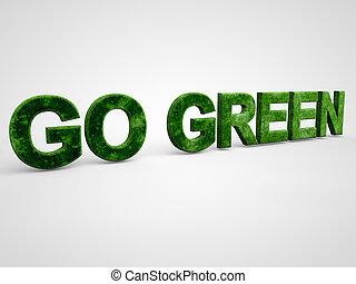 aller, vert