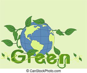 aller, world!!, vert, beauté