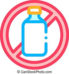 Allergen Free Sign Lactose Vector Thin Line Icon