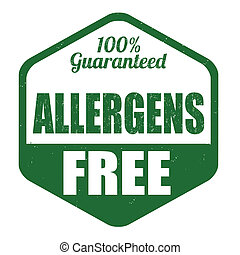 Allergen free stamp