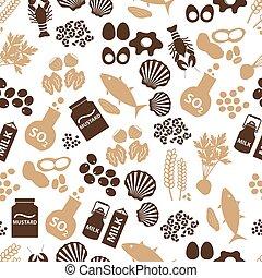 allergens, set, eps10, cibo, modello, seamless, ristoranti