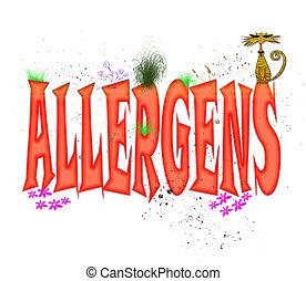 allergens, tipografia