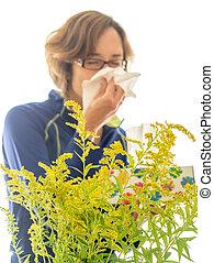 allergi, lidande person