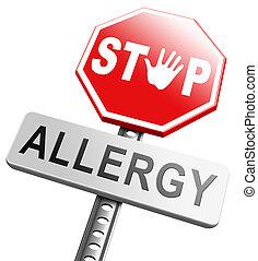 allergia, fermata
