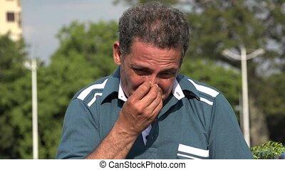 Allergic Adult Hispanic Man