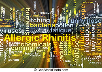 Allergic rhinitis background concept glowing - Background...