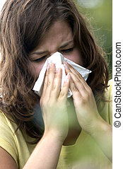Allergic sneezing