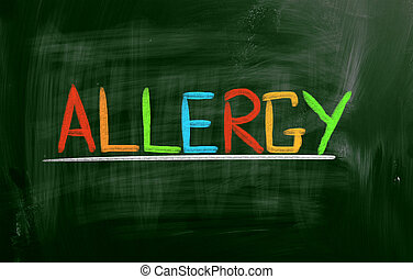 allergie, concept