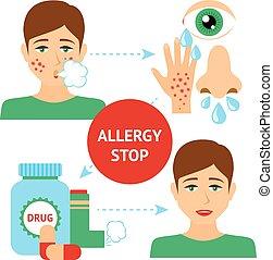 allergie, concept, prévention