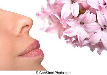 allergie, floral, flower., parfums, asthme, pollen, gros ...
