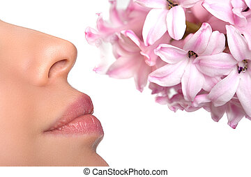 allergie, floral, flower., parfums, astma, stuifmeel, close-...