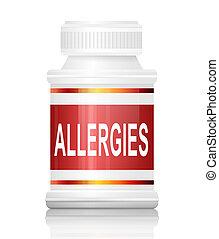 allergien, concept.
