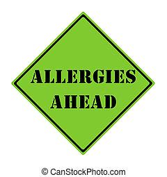 Allergies Ahead Sign