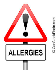 Allergies - Illustration depicting a red and white...