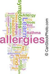allergies, mot, nuage