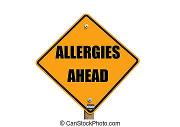 allergies, panneau avertissement