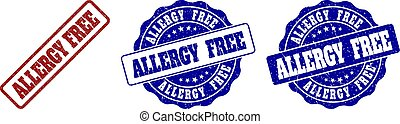 ALLERGY FREE Grunge Stamp Seals