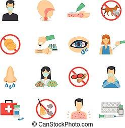 Allergy Icons Flat Set