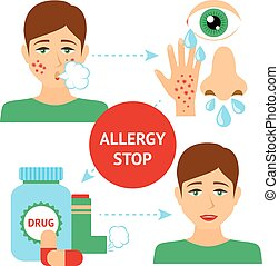 Allergy Prevention Concept - Allergy prevention concept with...