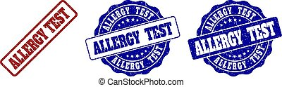 ALLERGY TEST Grunge Stamp Seals