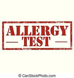Allergy Test-stamp