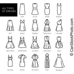 alles, arten, von, dresses.eps