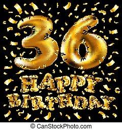 Gold 36 Einladung Dein Einmalig Banner Jubiläum Feiern
