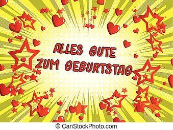 Alles Gute Zum Geburtstag (Happy Birthday in German) -...