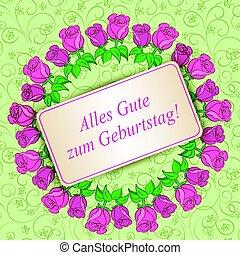 Alles gute zum Geburtstag - Happy birthday - light green...