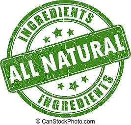 alles, natuurlijke , ingredienten, stam
