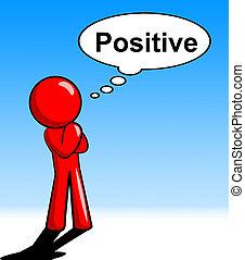 alles, rechts, denken, positief, o.k., optredens