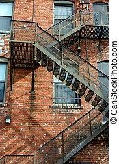 Alley fire escape
