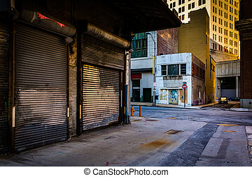 Alley in Baltimore, Maryland.