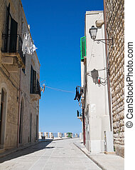 Alley in Oldtown of Giovinazzo. Apulia.