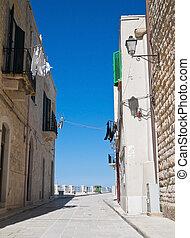 Alley in Oldtown of Giovinazzo. Apulia.