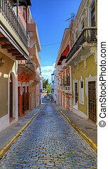 Alley in San Juan - Alleyway in San Juan, Puerto Rico
