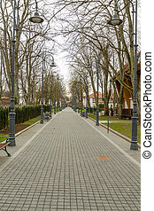 Alley in the city of Palanga