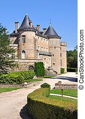 castle in Burgundy (France)