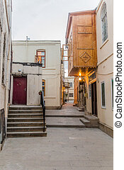 Alley in the old town of Baku, Azerbaij