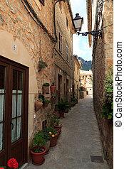 Alley in Valldemossa, Mallorca, Spain