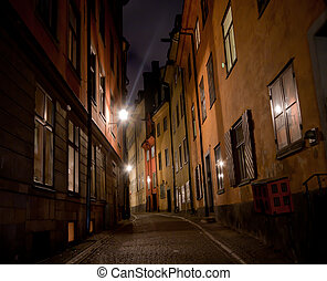 Alley - A small alley in Stockholm