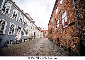Alley with old buildings