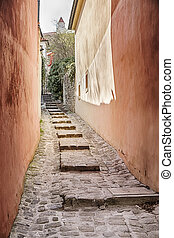 Alley With Steps In Bratislava